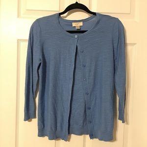 Loft blue cardigan